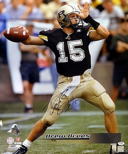 Drew Brees Signed 20x24 Photo Purdue Boilermakers - PSA/DNA Authentication - Autographed NFL Football Photos (Signed Brees Photograph)