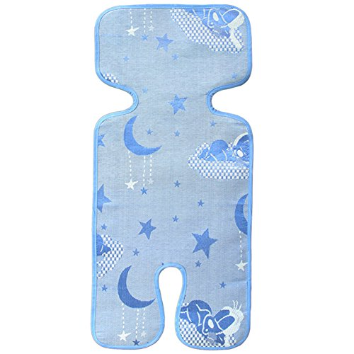 Bedding Ice Crib (Baby Summer Sleeping Mat Breathable Safe Ice Silk Mat Trolley Seat Liner Folding Bedding Cushion Crib Cot Cozy Nap Pads)