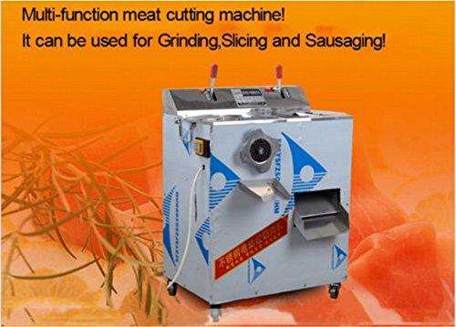 Stainless steel meat slicer mincer grinder meat cutting machine dual motors (110V)