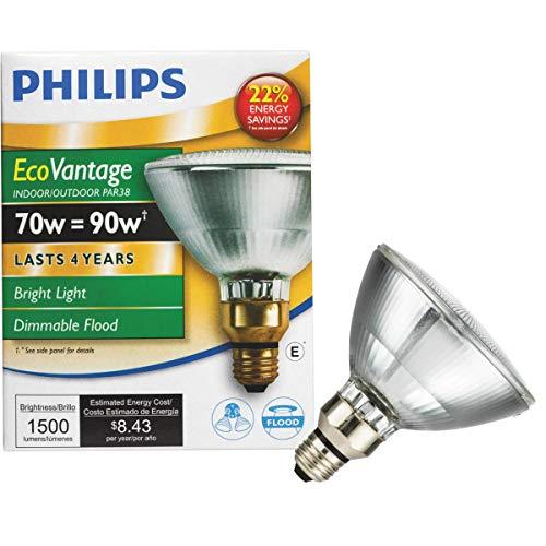 GE Lighting 62231 Energy-Efficient Halogen 75-Watt (90-watt replacement) 1500-Lumen PAR38 Floodlight Bulb with Medium Base, 1-Pack