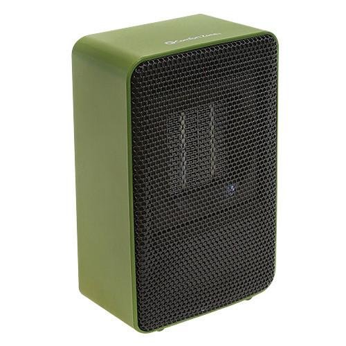 Excel Products Personal Ceramic Heater Only 7'' Tall fan Forced 200 Watt Output 683BTU (Green)