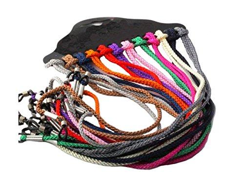 12pcs Colorful Nylon Braided Eyeglass Cord Reading Sunglass Neck Strap Eyewear Retainer Rope Holder 23.6