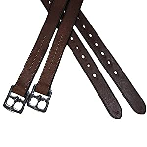 Exselle Elite Half Hole Stirrup Leathers, Black, 3/4-Inch