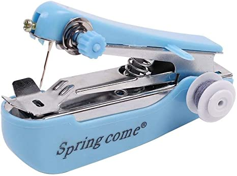 1pcs Mini Stitch Travel Household Electric Portable Mini Handheld Sewing Machine