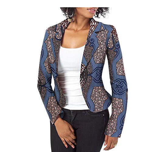 - African Jacket for Women Party Wear for Girls Women Wax Print Suit Coat Blazer 418 M