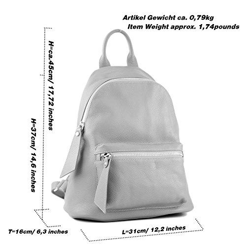 modamoda sac cuir Ital Präzise Schwarz en nur Farbe Damenrucksack T171A Farbe de rq6twHr