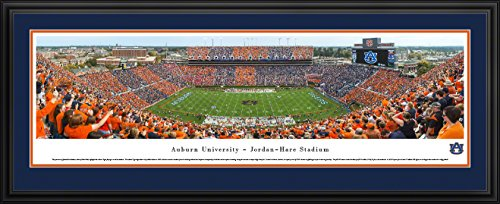 Auburn Tigers Football - Stripe The Stadium - Blakeway Panoramas College Sports Posters with Deluxe Frame ()