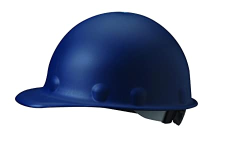 Fibre-Metal by Honeywell P2ASW71A000 Super Eight Swing Strap Fiber Glass Cap Style Hard Hat, Blue