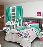 Paris Reversible Comforter Set, Sheet Set and Window Panels (Full/queen)