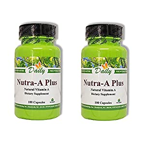 Daily Manufacturing Nutra-A Plus, 100 Capsules 2 Pack