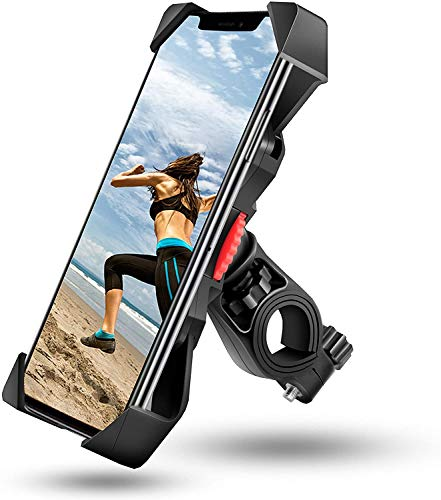visnfa Bike Phone Mount Anti Shake and Stable Cradle Clamp with 360° Rotation Bicycle Phone Mount/Bike Accessories/Bike…