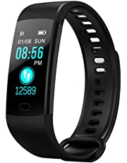 Smart Fit Sport Colour Fitness Tracker with Heart Rate Monitor Sleep Monitor Color Screen Bluetooth Smart Watch Activity Tracker Waterproof Step Counter Pedometer and Calorie Counter
