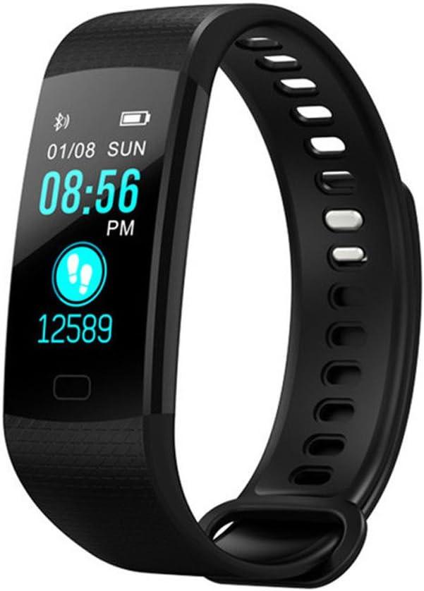 Smart Fit Sport Color Fitness Tracker con monitor de ritmo cardíaco, monitor de sueño, pantalla a color, reloj inteligente Bluetooth, rastreador de actividad, impermeable, contador de pasos, podómetro