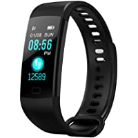 Smart Fitsport Y5 Colour Fitness Tracker with Heart Rate Monitor Sleep Monitor Color Screen Bluetooth Smart Watch Activity Tracker Waterproof Step Counter Pedometer and Calorie Counter