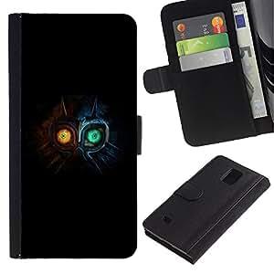 All Phone Most Case / Oferta Especial Cáscara Funda de cuero Monedero Cubierta de proteccion Caso / Wallet Case for Samsung Galaxy Note 4 IV // Cute Monster