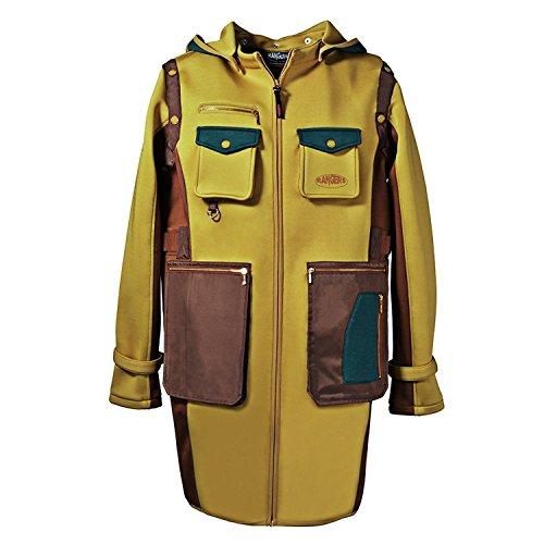 Rangers Multi-Tachen weiches Material, Professioneller Outdoor-Fotograf Trenchcoat mit abnehmbarer Kapuze und Ärmeln ( Gelb ) RA803C40