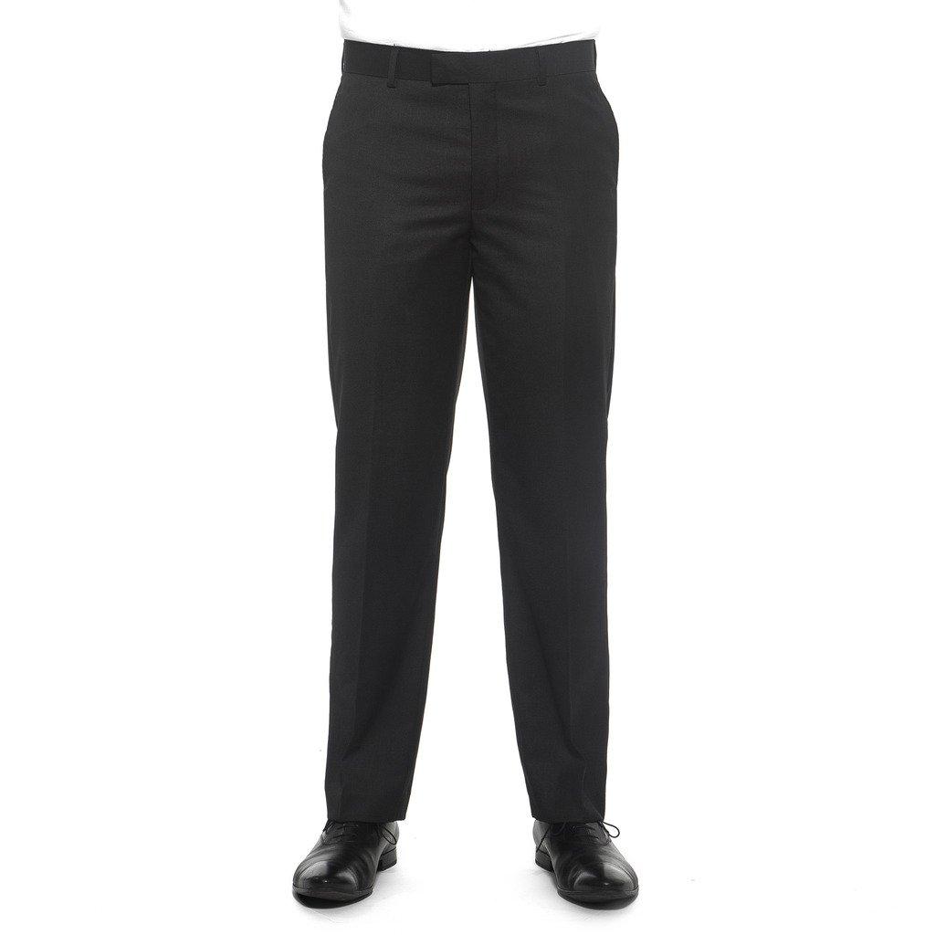Nicole Miller NMAN Men's Solid Suit Separate Dress Pants - Slim Fit, Charcoal Gray