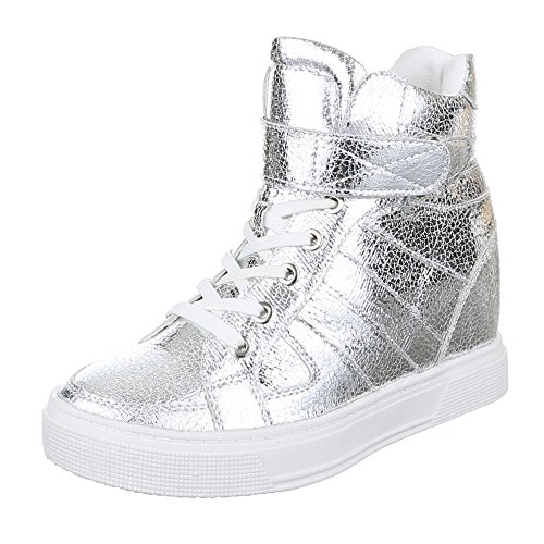 Ital-Design , Chaussons montants femme Silber
