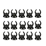 Owncons 15 Pcs Aquarium Heater Suction Cups / Fish Tank Heater Suckers Clips Holders Clamps, Black