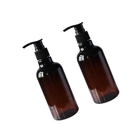 LuLyL - 2 Botellas de plástico vacías de 250 ML para ...