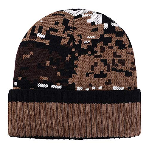 URIBAKE ❤ Women's Baggy Beanie Hat Camouflage Ear Mosaic Pattern Crochet Winter Warm Knitted Caps ()