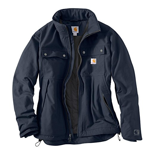 Carhartt Men's Quick Duck Jefferson Traditional Jacket, Navy, Large by Carhartt
