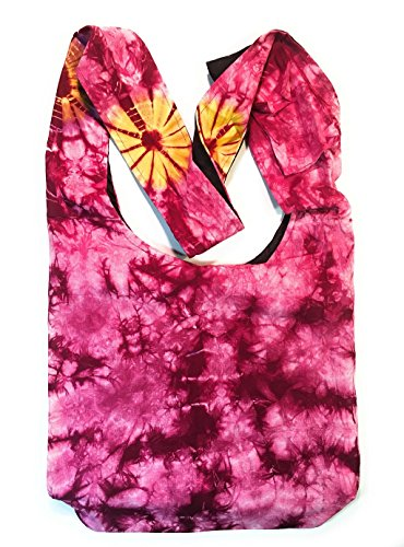 Handbag in Body Cross Tie Purse Shoulder Pink Dye wgpYg6qxI