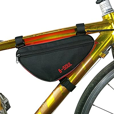 BIYLACLESEN MTB Mountain Road Bike Bicycle Triangle Frame Bag Front Pack Top Tube Cycling Pouch Outdoor Accessories