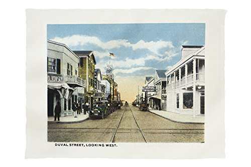 Key West, Florida - Duval Street West Scene (60x80 Poly Fleece Thick Plush - Key Duval Street Florida West In