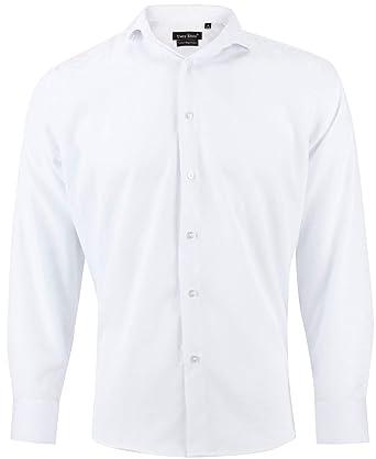Camisa Slim fit para Hombre con Manga Larga: Amazon.es: Ropa y ...