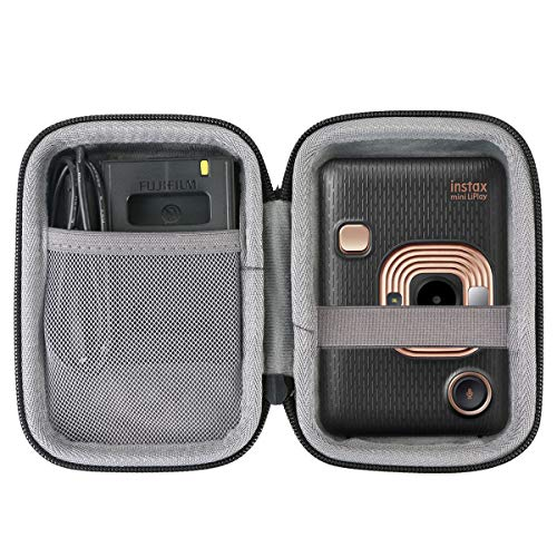 co2crea Hard Travel Case Replacement for Fujifilm Instax Mini Liplay Hybrid Instant Camera (Black Case)