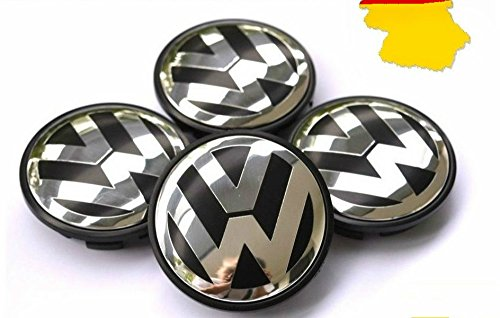 Gosweet New 4pcs OEM VW Volkswagen Wheel Hub Center Cap f...