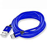 Type-C Cable, PROWORX Premium Durable Type C USB Charger Cable Blue 6FT Long USB C to USB A For Google Pixel XL, LG V20, G5, ZTE Zmax Pro Grand X4 X3 & More