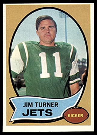 Amazon.com  1970 Topps  104 Jim Turner Ex-Mint NY Jets  Collectibles ... 28299158a
