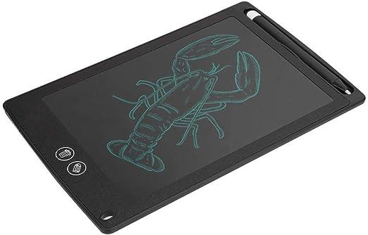 タブレット、ライティングボード、部分消去LCDドローイングボード、子供用のペイント用のワンボタンロック(black)