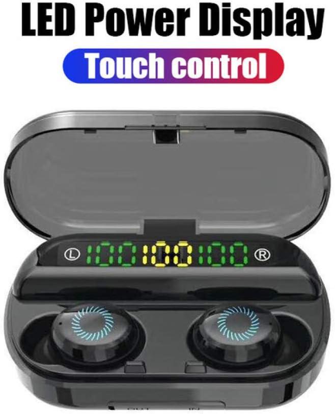 YUYUBAOER draadloze hoofdtelefoon V10 Bluetooth hoofdtelefoon stereo geluid CVC 8.0 ruisonderdrukking 6H speeltijd Pro IPX5 waterdichte draadloze oortelefoon oortelefoon met draadloze laadkoffer A