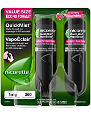 Nicorette Quickmist Spray 1Mg Cool Berry, Quit Smoking Aid & Smoking Cessation Aid Duo Pack, 150 Sprays Each X 2 Count