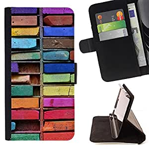 "For Samsung Galaxy J1 J100,S-type Colorful Art Dibujo Sucias"" - Dibujo PU billetera de cuero Funda Case Caso de la piel de la bolsa protectora"