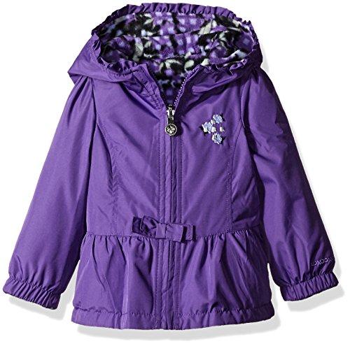 Toddler Reversible Jacket (London Fog Baby Girls' Midweight Reversible Poly To Fleece Jacket, Purple, 24 Months)