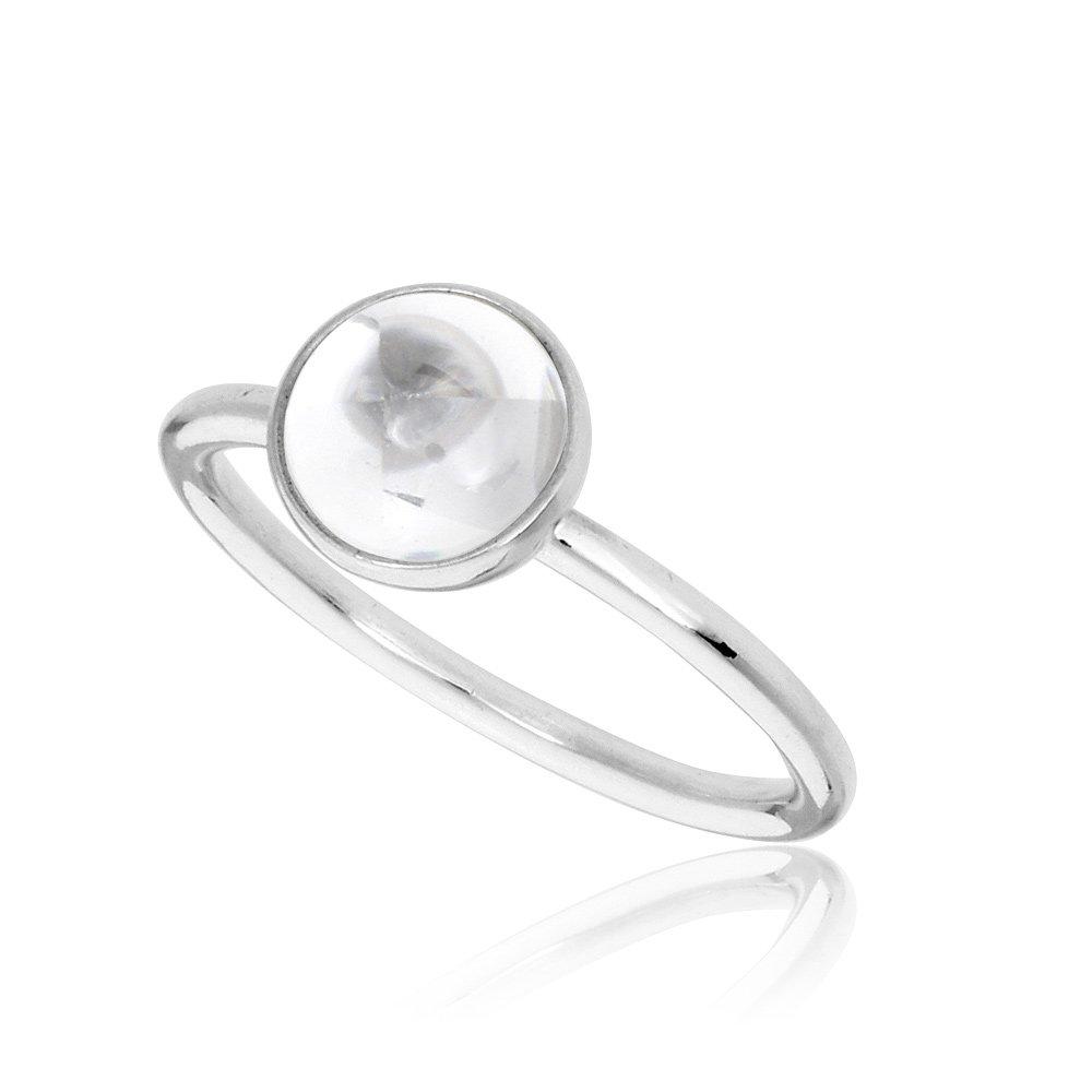 f06100eb9 Amazon.com: Pandora Poetic Droplet Silver Ring 191027CZ58: Watches