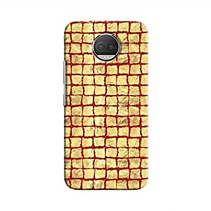 Cover It Up - Gold Red Break Mosaic Moto G5s Plus Hard Case