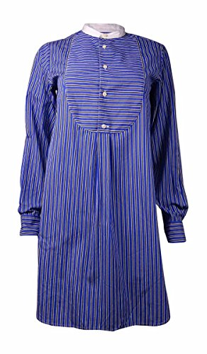 Polo Ralph Lauren Women's Striped Relaxed Fit Shirt Dress (4, Blue/Black) (Polo Ralph Lauren Striped Knit Dress Shirt)
