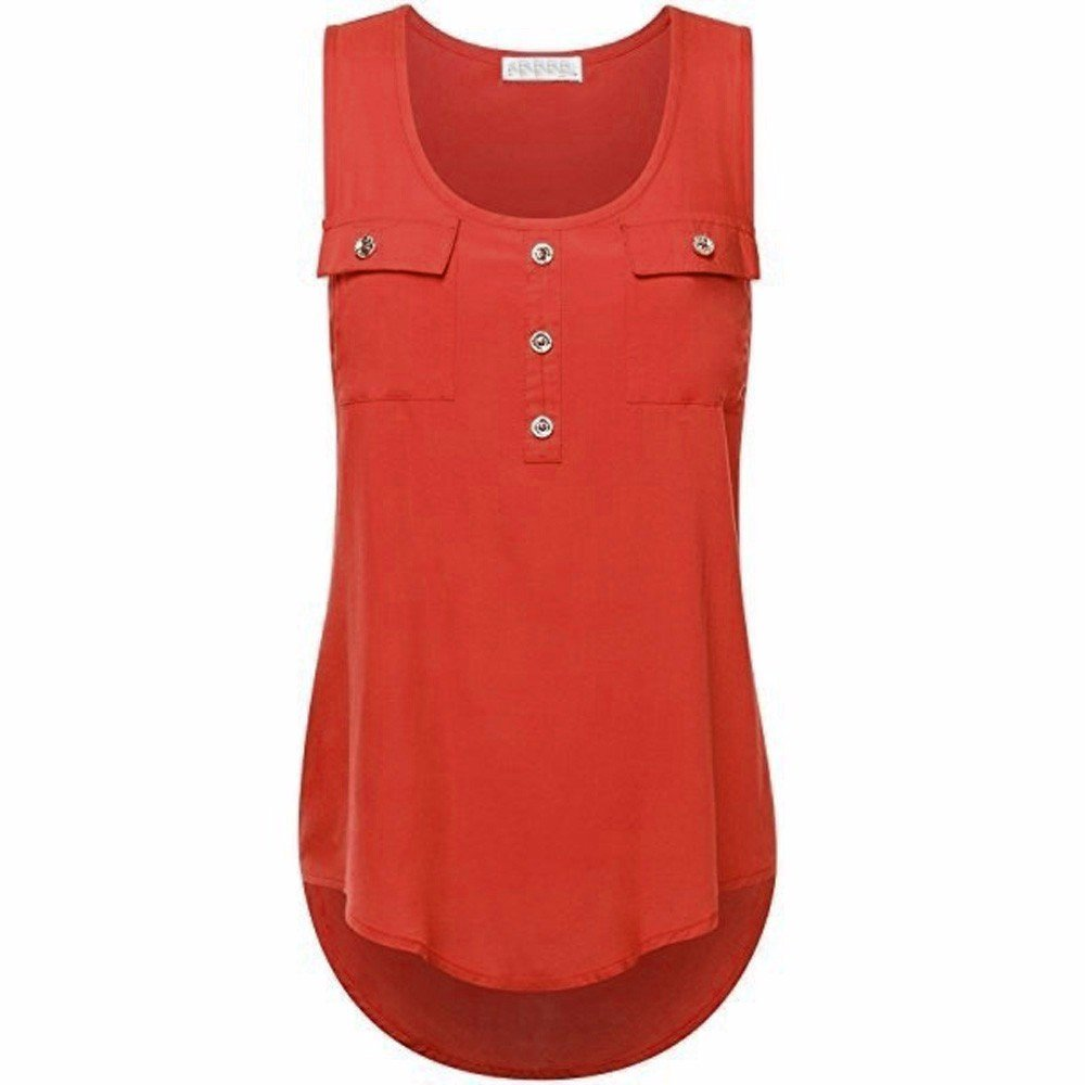 Camisoles of Women Sleeveless Tank Sexy Printed Vest Loose Crop Top Camis Blouse Red