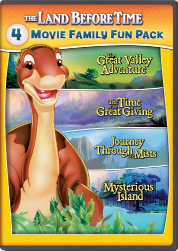 The Land Before Time II-V 4-Movie Family Fun Pack (The Great Valley Adventure / The Time of the Great Giving / Journey Through the Mists / The Mysterious Island) (Dvd Time Land Before Set)