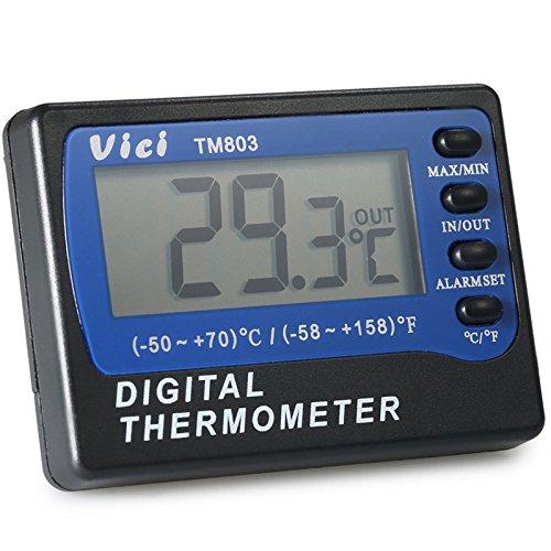 VICI TM803 - Termómetro para nevera y congelador (pantalla LCD ...