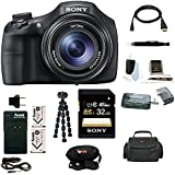 Sony Cyber-shot DSC-HX300 Digital Camera with Replacement Battery and Charger Kit and 32GB Deluxe Accessory Bundle