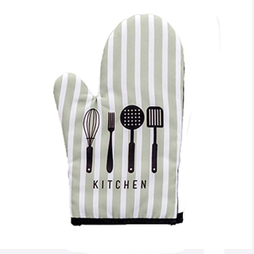 Oven Gloves Ladies Kitchen Baking Thicken Heat Resistant