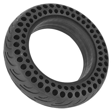 Tbest Neumático de Scooter,10 Pulgadas Rueda de Scooter Eléctrico Repuesto de Reemplazo de Llanta Sólida Libre Durable Negro para Scooter Eléctrico