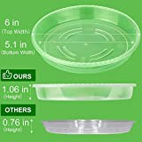 MUDEELA 6 Pack of 6 inch Plant Saucer, Durable