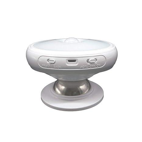 Luz de la noche del sensor de movimiento, WEILY Portátil 360 grados que giran la
